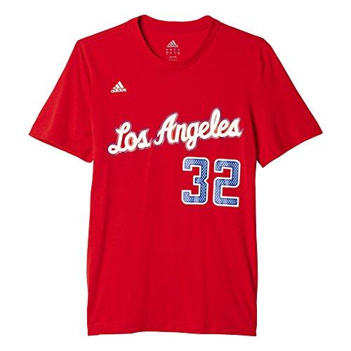 adidas Gametime Tee - Camiseta para hombre, color rojo / blanco (nbabrg), talla 2XL