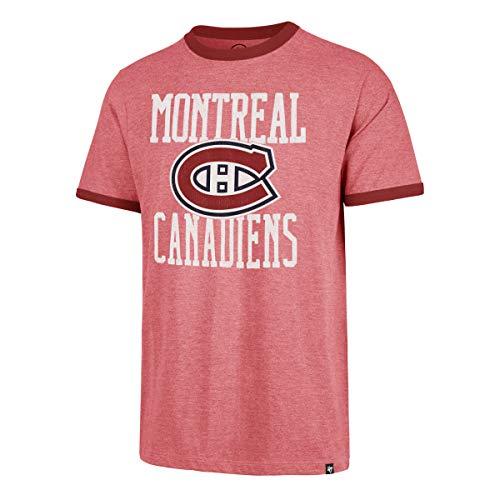 47 Brand Montreal Canadiens Belridge Ringer NHL T-Shirt Eishockey Tee (XL)