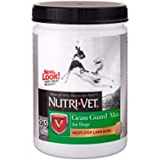 Nutri-Vet Grass Guard Max Chewables for Dogs  Dog Probiotic Supplement  Neutralizes Dog Urine to Prevent Lawn Spots   Protects Grass from Lawn Burn   365 Chewable Tablets