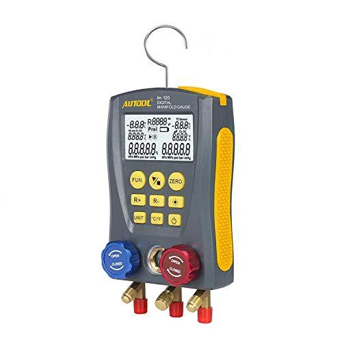 BELEY AUTOOL - Manómetro digital para refrigeración, analizador con 89tipos de sistemas de refrigerante