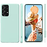 ORDA Samsung Galaxy A52 Hülle Silikon Hülle, Hanyhülle Samsung A52s 5G Hülle Dünn mit Microfiber, Kameraschutz & Displayschutz, Kratzfeste Hülle für Samsung Galaxy A52 5G/4G Mint-grün
