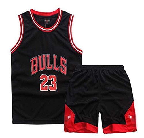 Yueyue Maglia da Uomo Jersey Bulls Vintage Champion Michael Jordan Maglia Chicago Bulls # 23 Maglia da Basket Swingman Jersey (Jordan-Nero, L)
