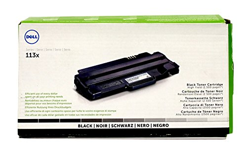 Dell, Inc 113X Black Toner Cartridge for 1130 1130n 1133 1135n, 2500 Page High Yield, Part Number 2MMJP