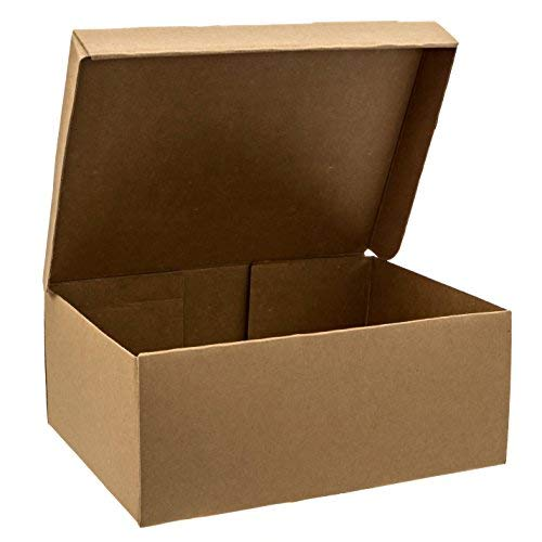 "SHOE BOXES - 10 PACK - 12.5"" x 9"" x 5"", HEAVY DUTY One-Piece Design With Lid"