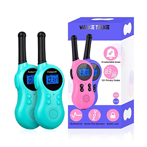 Funkprofi Walkie Talkies for Kids, 22 Channels HD Sound Long Range Two Way Radios with Belt Clip and Flashlight, Birthday Toy Gift for Boys & Girls Age 13 Years Old