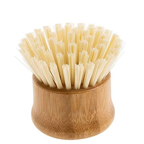 WCJ Afwasborstel reiniging van natuurlijke Boender for Cast Iron Skillet potten pannen gemaakt van bamboe + Nylon Yarn borstelharen