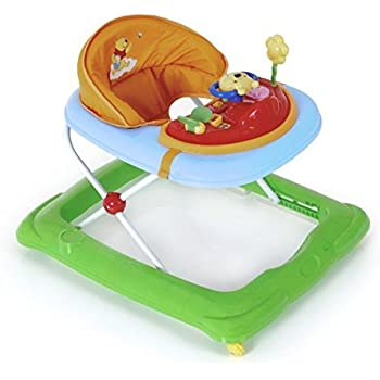 Hauck / Player / Trotteur Bebe Disney de 6 Mois à 12 kg / Marcheur avec Musique / Aide à la Marche avec Centre d'Éveil et Roues / Assise Rembourrée Amovible / Réglable en Hauteur / Pooh (Multicolore)