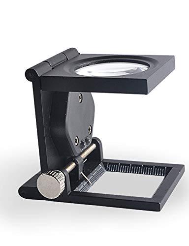 Vergrootglas lezen Fotografische bril met twee high-heldere LED Bead Lights, 10x Vergrootglas met Schalen en Hands, Portable Folding Vergrootglas, gebruikt for het verzamelen Fotografische Stempels op