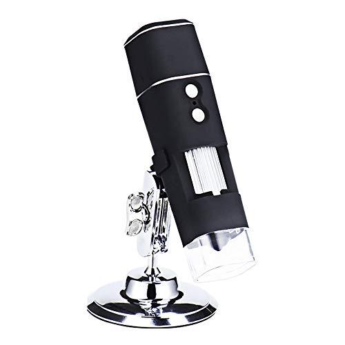YXFYXF WiFi USB Digital Mikroskop, 1000X Lupe Endoskop Kamera Connect Computer Hd Mikroskop Mit MetallstäNder Professioneller BasisstäNder, Kompatibel FüR Android, Mac, Fenster, Ios