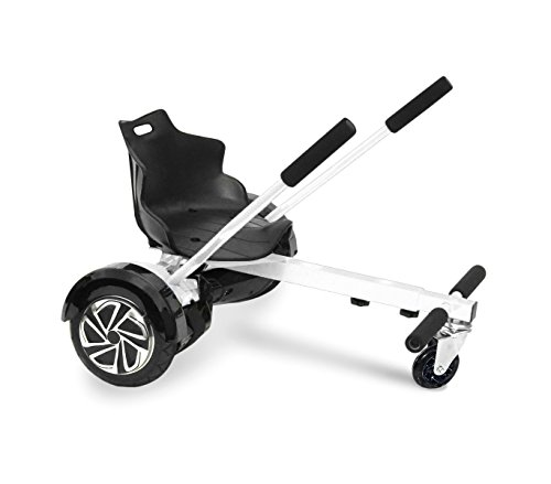 Asiento adaptable para HOVERBOARD ajustable de 6,5 a 10 pulgadas de las ruedas - Blanco