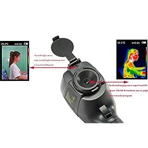 Infrarot-Wärmebildkamera mit 220 x 160 IR-Auflösung, Handheld-Wärmebildkamera mit 35200 Pixeln, Infrarot-Thermometer mit 3,2-Zoll-Farbdisplay (Batterie im Lieferumfang enthalten)
