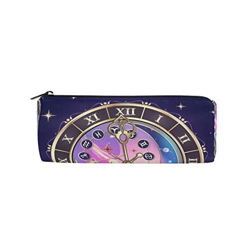 Ahomy Federmäppchen, Sternzeichen Astrologische Uhr, Stifteetui, Stifteetui für Schule, Büro, Kosmetik Make-up Tasche für Frauen
