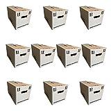 MeaVita Umzugskarton 10er Pack Bücherkartons Aktenkartons 600 x 330 x 350