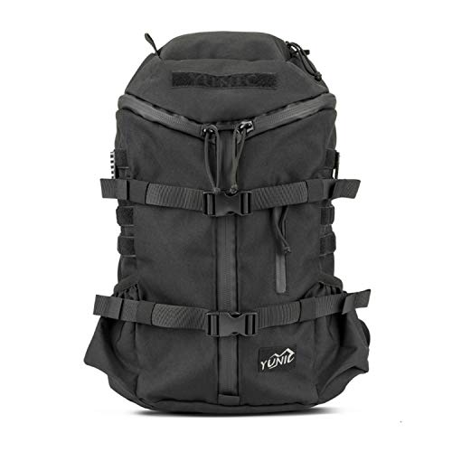 YUNIC Cooler Backpack 26L Insulated Lightweight Tactical Assualt Pack Water and Tear Resistant Large Capacity for Daily and Outdoor Activities (Black)