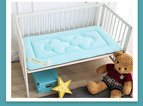 RZH Solo Bebé/niños Colchón Cama Cuna Colchón Doble Verano e Invierno Cómodo,Azul,70x150cm