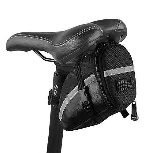 iKALULA Fahrrad Satteltasche, Kompakte wasserdichte Rahmentasche Fahrradtasche Oberrohrtasche Aero Wedge Pack Mountainbike Bag für Mountainbikes, Fahrräder, und Rennräder - Schwarz