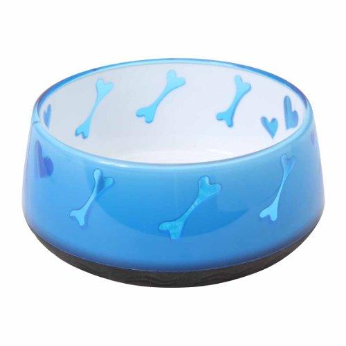 Dogit Dog Food and Water Bowl, BPA-Free Dog Dish, Non-Skid Dog Bowl, Blue, 90411