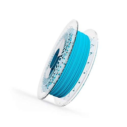 Filamento Elastico FILAFLEX 95A MEDIUM-FLEX con 95A de dureza shore semiflexible compatible con todas las impresoras 3D del mercado incluidas las de extrusor tipo bowden (1.75 mm 500 gr, Azul)