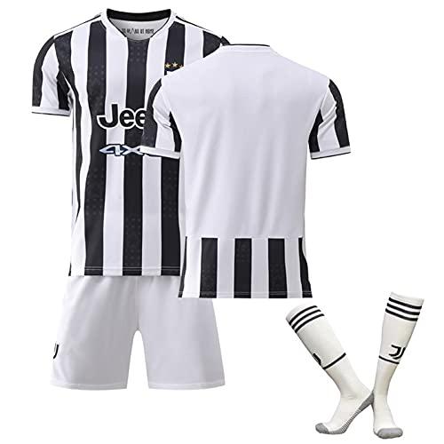 QHMWP Camiseta NiñOs Adultos, Camiseta Partido Unisex Camiseta FúTbol para NiñOs, Juventus 2122 Inicio Temporada, Entrenamiento Camiseta FúTbol, Camisetas FúTbol Vintage Camiseta