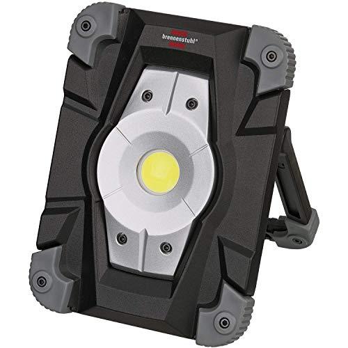 Brennenstuhl Akku LED Arbeitsstrahler (Außenleuchte 20 Watt, Baustrahler IP54, Fluter Tageslicht) schwarz/grau 5er Set
