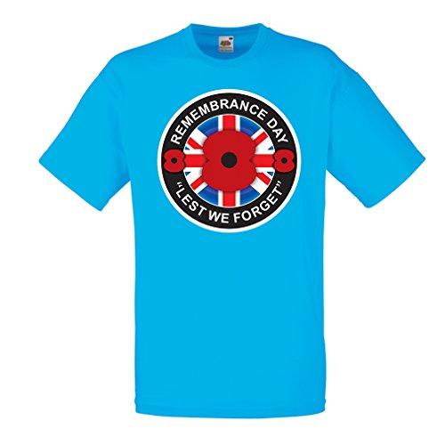 lepni.me Camisetas Hombre Día de la conmemoración - para Que no Nos olvidemos (Medium Azul Multicolor)