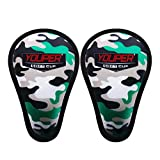 Youper Boys Youth Soft Foam Protective Athletic Cup (Ages 7-12), Kids Sports Cup for Baseball, Football, Lacrosse, Hockey, MMA - 2 Pack (Army Camo)