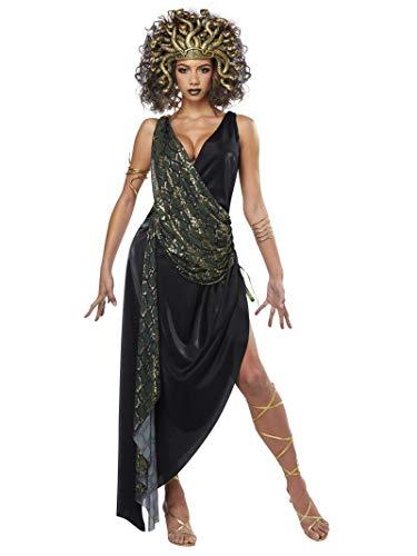 California Costumes Verführerisches Medusa-Kostüm für Damen Antike-Kostüm schwarz-grün L (42/44)