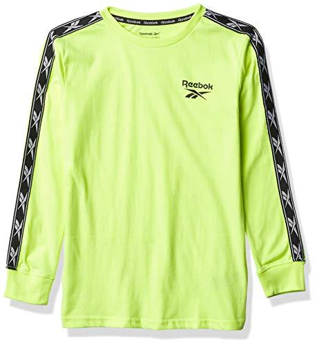 Reebok Boys' LS T-Shirt, Safety Yellow, 5