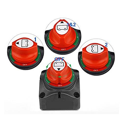 YANGJUANJUAN Interruptor de selector de batería Dual Desconectar Ajuste para vehículos de RV de Barco Marino 1-2-BUT-OFF N0HF