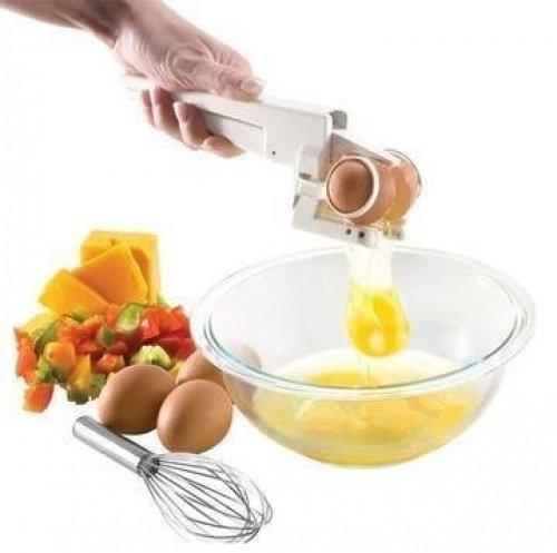 EZ Egg Cracker Handheld Egg Divider Easy Egg Cracker Egg Opener Egg Breaker Kitchen Gadget Tool