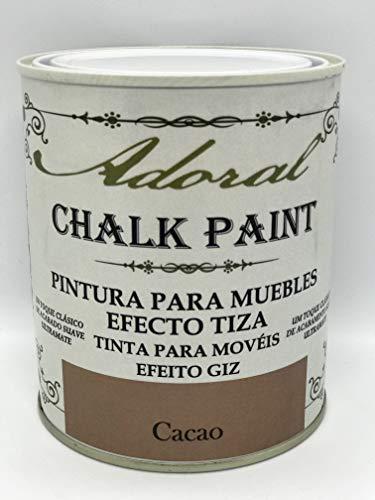 Adoral - Chalk Paint Pintura para muebles Efecto Tiza 750 ml (Cacao)