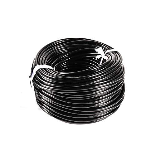 Manguera de 4/7 mm Tubo de Agua de PVC Tubo de riego Manguera de Goteo de Agua de jardín Sistema de riego Sistemas de riego for Riego de invernaderos (Color : Black, Size : 30m)