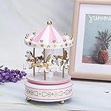 AUNMAS Merry-Go-Round Music Box Carrusel Caja Musical para Navidad Boda Regalo de Cumpleaños Tienda...