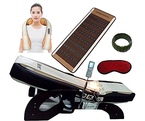 Carefit Latest Trusted Jade Thermal Massage Bed 5000 Gold Full Body Spine Leg Therapy (With...