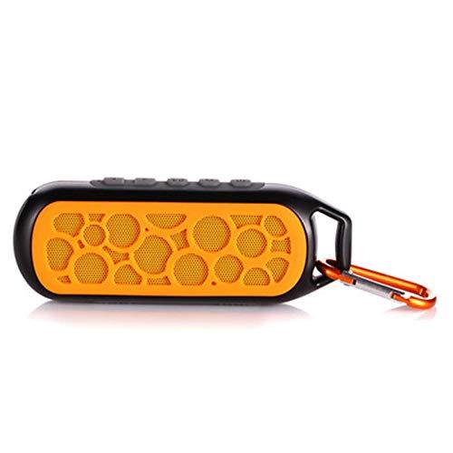 ist Präfekt für Streaming / Podcasting / Gaming Aimodi im Freien bewegliches IP67. Wasserdicht FM Radio TF. -Karte Wireless-Bluetooth-Lautsprecher für Handys ( Color : Orange )