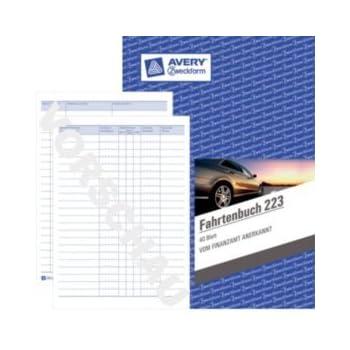 2 Zweckform 223 D Fahrtenbücher DIN A5 hochkant Hardcover Fahrten Buch