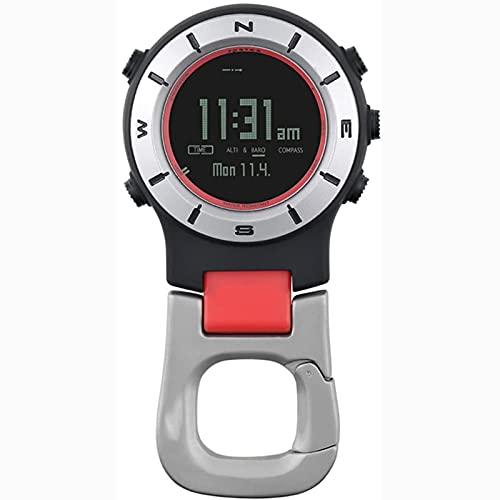 Reloj Multifuncional a Prueba de Agua, medidor de altitud, barómetro, brújula, Reloj, brújula, Productos para Exteriores, con altímetro, termómetro, brújula