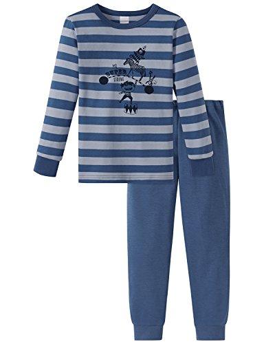 Schiesser Jungen Zirkus Strong Boy Kn lang Zweiteiliger Schlafanzug, Blau (Blau 800), 104