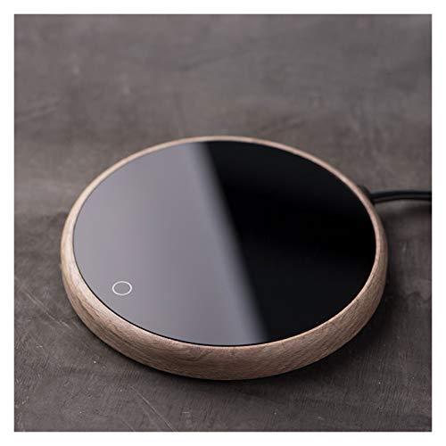 JJH Taza de café Calentador Auto Apagado, 15 vatios Electric Beverage Siller, Coaster termostático para el Escritorio de la casera de Oficina, 2 configuraciones de Temperatura
