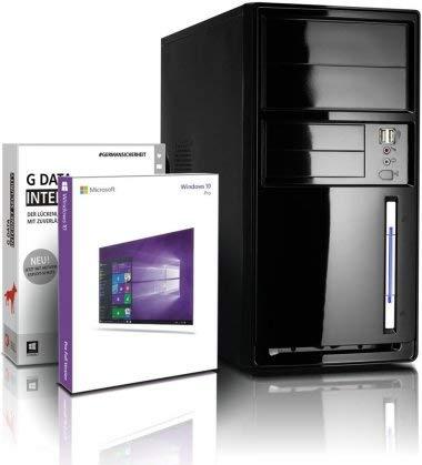 shinobee Flüster-PC Quad-Core Office/Multimedia PC mit 3 Jahren Garantie! inkl.Win10 64-Bit - Intel Quad Core 4x2.41 GHz,8GB RAM, 256 GB SSD, Intel HD Graphics, HDMI, VGA, MS Office, USB 3.0#6216