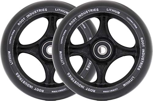 Root Industries Lithium Pro - Ruedas para patinete (120 x 30 mm), color negro