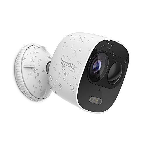 Imou 防犯カメラ 屋外 監視カメラ 1080P Wi-Fi ワイヤレス 録画 防水 配線不要 声光警報 スマホ遠隔操作 AI動体検知アラーム 暗視撮影 IP65防水 リアルタイム双方向音声会話 内蔵サイレン SDカード クラウド NVR保存 日本語説明書 LOOC 3年保証(2.4GHzのWi-Fiだけ対応)