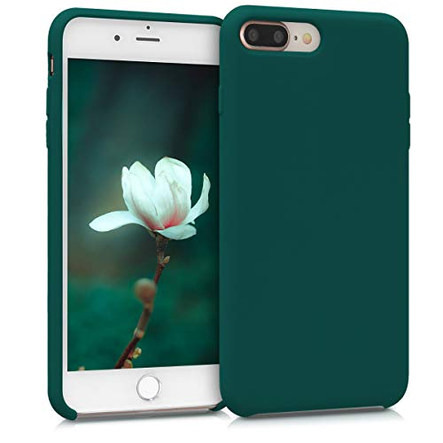 kwmobile Funda Compatible con Apple iPhone 7 Plus / 8 Plus - Carcasa de TPU para móvil - Cover Trasero en Verde Cian