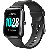 Letsfit Smart Watch, Fitness Tracker with Heart Rate Monitor, Activity Tracker with 1.3 Inch Touch Screen, IP68 Waterproof Pedometer Smartwatch with Sleep Monitor, Step Counter for Women and Men