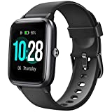 "Letsfit Smart Watch, Fitness Tracker with Heart Rate Monitor, Activity Tracker with 1.3"" Touch Screen, IP68 Waterproof Pedometer Smartwatch with Sleep Monitor, Step Counter for Kids, Women and Men"