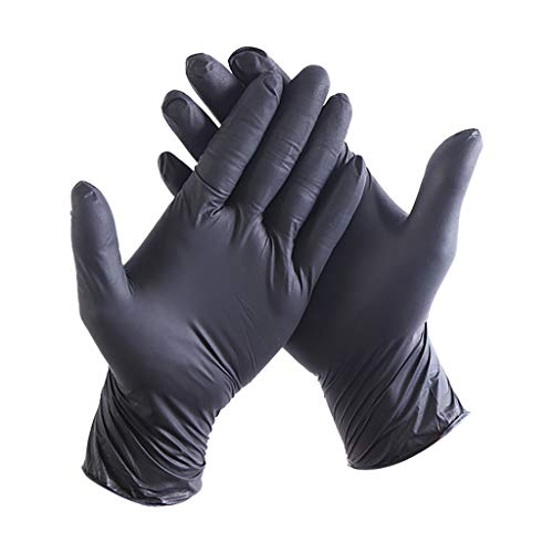 Fantastic Deal! Sunnyadrain Industrial Blue Vinyl Gloves - 4 mil, Latex Free, Powder Free, Disposabl...