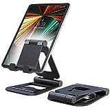 Nulaxy Supporto Tablet, Alluminio Supporto per iPad Pieghevole e Regolabile, Porta Cellulare da Tavolo per iPad PRO 12.9, 10.5, 9.7, Air Mini 2 3 4, iPhone, Switch, Samsung Tab (4.7'-13')- Nero