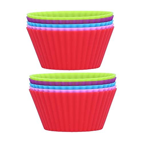 Tazas para hornear, taza para muffins, 10 piezas para congeladores, hornos microondas para panadería, hogar
