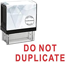 StampExpression - DO NOT Duplicate Office Self Inking Rubber Stamp - Red Ink (A-5481)