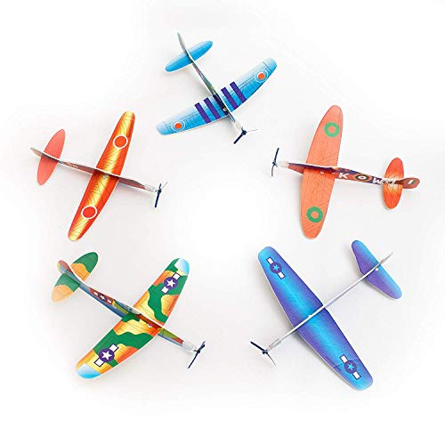 Fun Central AU584 12 Pieces, 8 Inch Novelty Glider Planes, Toy Glider Planes, Assorted Glider Plane, Glider Plane Toy Pack for Kids